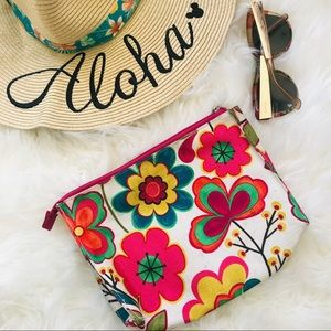 Bright Floral Zipper Bag!